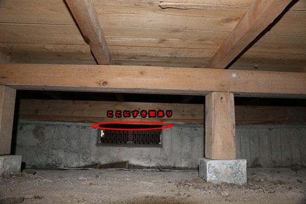 ネズミ駆除作業風景 床下8