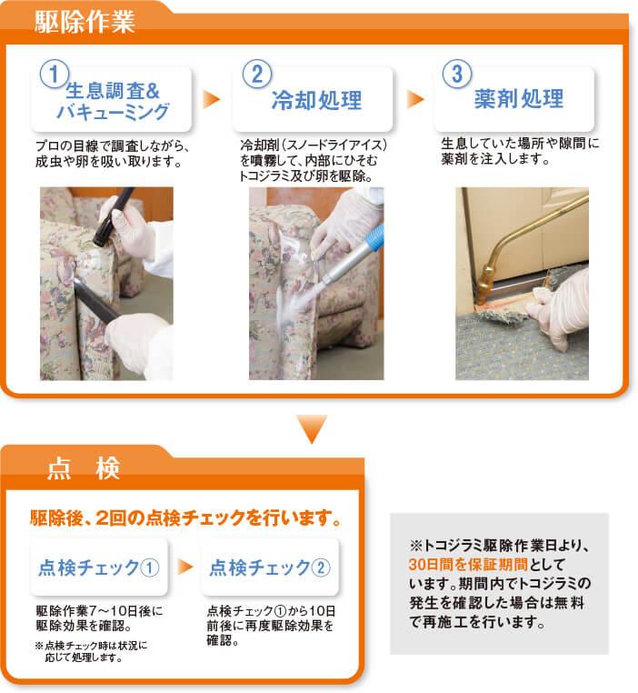 トコジラミ駆除の作業方法